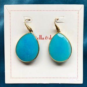 Turquoise stone Stella & Dot earrings